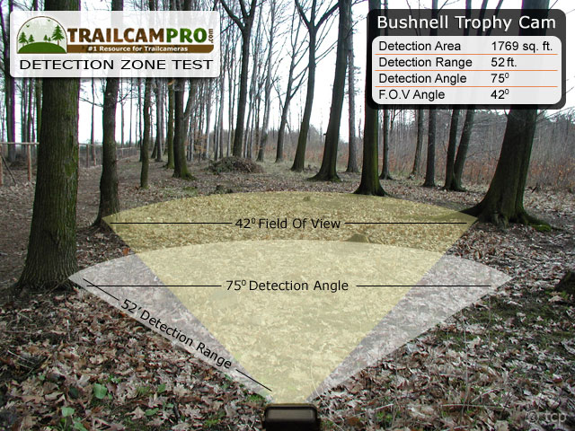 Bushnell Trophy Cam detection zone test, TrailCamPro.com