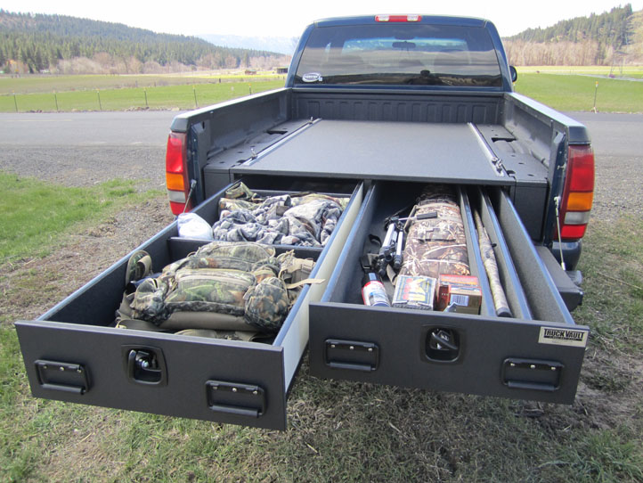 All Of My Hunting Gear Loaded In The Truck Vault