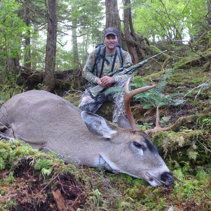 Rob Endsley with his first Sitka blacktail taken with a Savage 7mm-08 with Federal 140 grain Barnes X ammunition