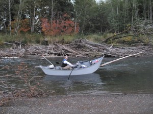 Being able to row around debris and in skinny water make the drift boat versatile -Jason Brooks