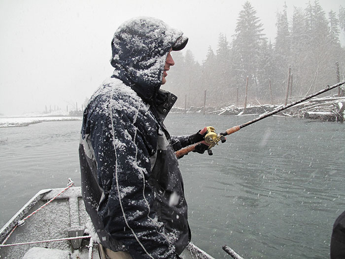 Steelhead Fishing in the Snow, photo by Jason Brooks