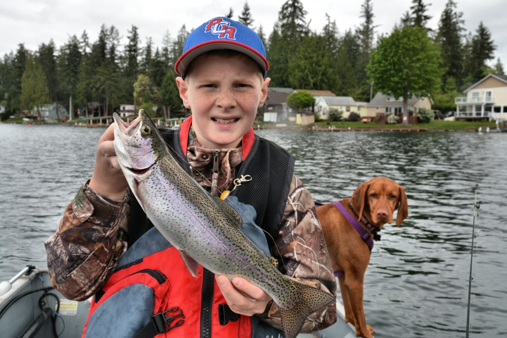 Ryan Brooks with an opening day rainbow -Jason Brooks