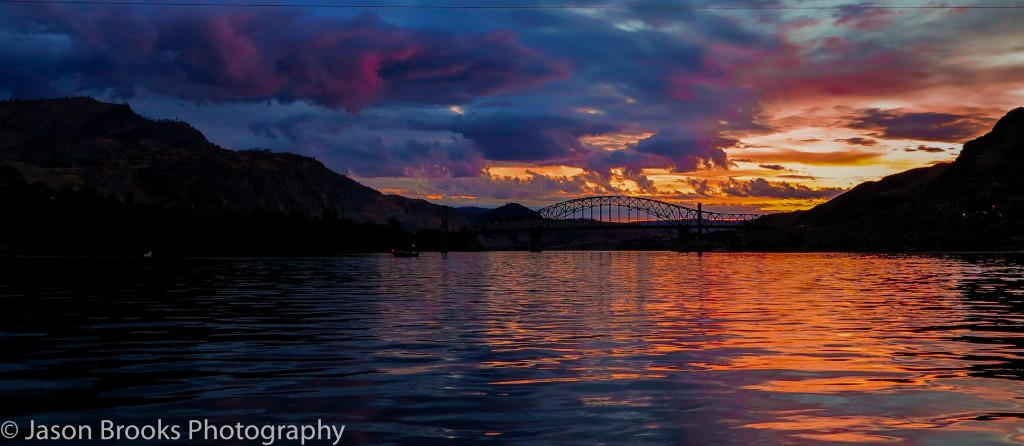 Summer sunrise at Chelan Falls on the Columbia River-Jason Brooks