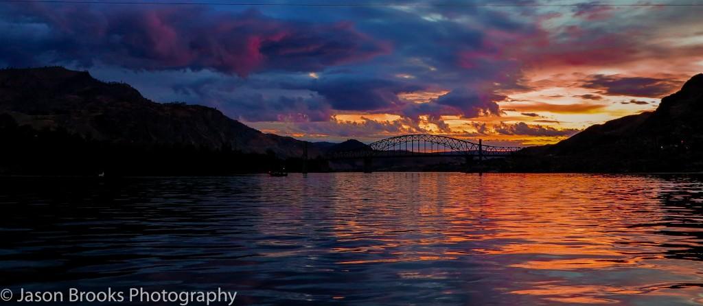 Summer sunrise at Chelan Falls on the Columbia River-Jason Brooks